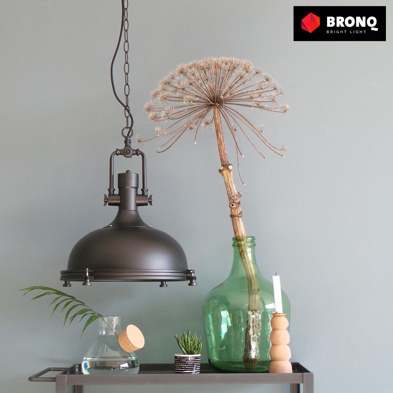 Bruine Landelijk Industriele Hanglamp O40cm Lampenconcurrent Nl